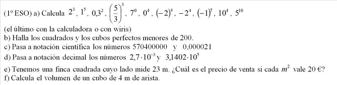 efd2616fb991 Potencias y raíces. Notación científica. Raíz cuadrada.