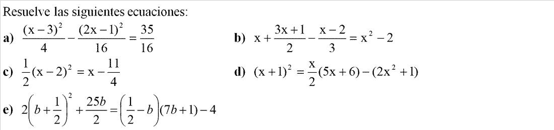 Resolver ecuaciones. Sistemas de ecuaciones